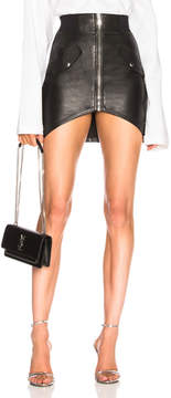 RtA Isla Leather Skirt