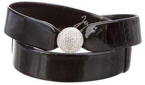 Judith Leiber Embellished Patent Leather Belt