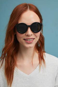 Anthropologie Round Midnight Sunglasses