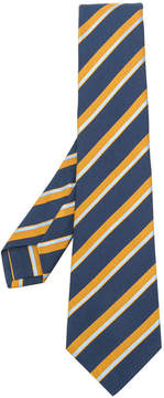 Kiton striped patterned tie