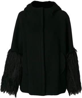 Giamba fringed cuffs coat