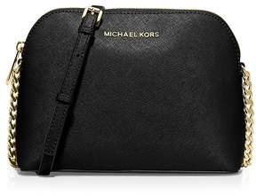 MICHAEL Michael Kors Cindy Large Dome Crossbody - BLACK/GOLD - STYLE