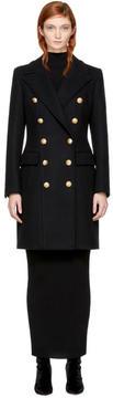 Balmain Black Wool Double-Breasted Coat