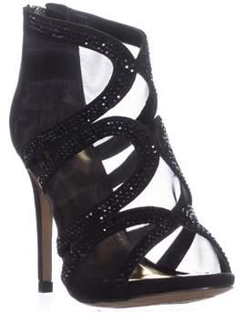 Thalia Sodi Ts35 Fabiaa Mesh Dress Sandals, Black.