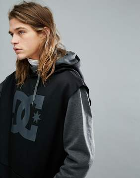 DC Snow Dryden Hoodie With Double Layered Body in Gray