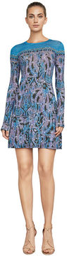 BCBGMAXAZRIA Jeanna Baroque Paisley Dress
