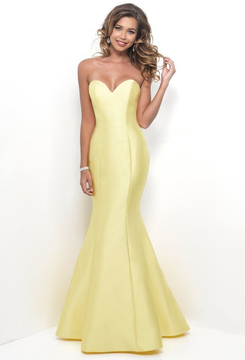 Blush Lingerie Strapless Sophisticated Sweetheart Mermaid Gown 11238