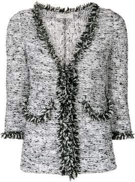 Charlott frayed trim tweed jacket