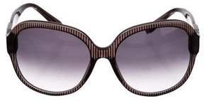 Chloé Oversize Striped Sunglasses