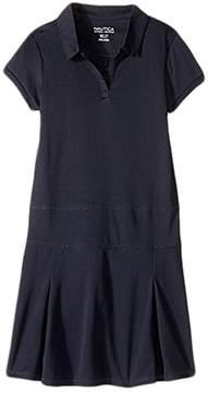 Nautica Girls Plus Short Sleeve Performance Dress Girl's Dress
