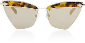 Karen Walker Sadie Cat-Eye Acetate and Metal Sunglasses