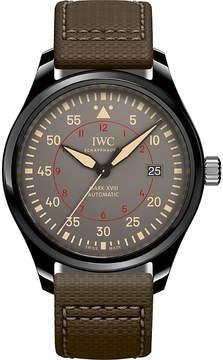 IWC Pilot's Mark XVIII Top Gun leather and ceramic watch