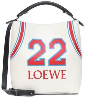 Loewe T printed leather bucket bag