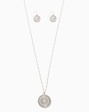 Charming charlie Great Medallion Pendant Necklace Set