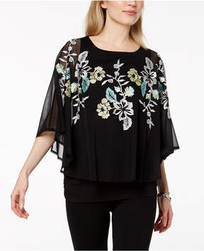 Alfani Embroidered Cape Top, Created for Macy's