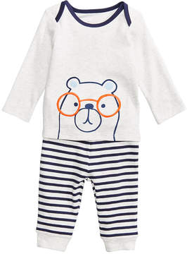 First Impressions 2-Pc. Bear-Print Top & Leggings Set, Baby Boys, Created for Macy's