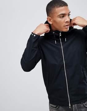 Pull&Bear Zip Through Jacket In Black