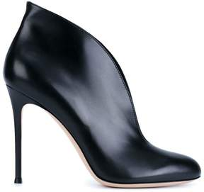 Gianvito Rossi Black Leather Vamp 110 Ankle Boots