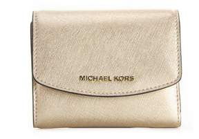 MICHAEL Michael Kors Jet Set Travel Small Trifold Wallet Gold - GOLD - STYLE