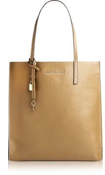 Marc Jacobs Golden Beige Leather The Grind Shopper Tote Bag - ONE COLOR - STYLE