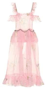 Christopher Kane Off-the-shoulder silk dress