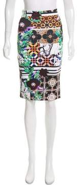 Clover Canyon Neoprene Digital Print Skirt