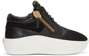 Giuseppe Zanotti Black Doubleg Platform Sneakers