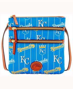 Dooney & Bourke Kansas City Royals Nylon Triple Zip Crossbody Bag - BLUE - STYLE