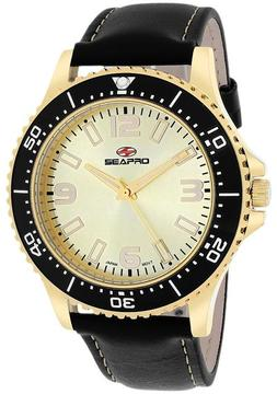 Seapro SP5315 Men's Tideway Black Leather Watch