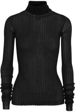 Bottega Veneta Ribbed Cotton-Blend Turtleneck Sweater