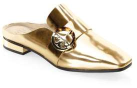 Tory Burch Sidney Backless Spark Leather Loafers