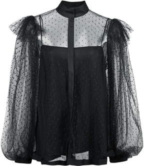 Dice Kayek spotted tulle blouse