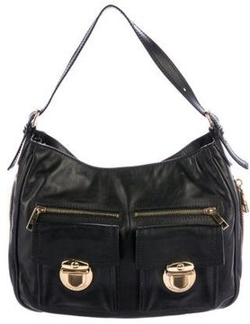 Marc Jacobs Leather Lisa Hobo - BLACK - STYLE