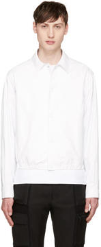 Calvin Klein Collection White Coated Jacket