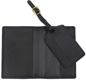 Royce Leather Royce Luxury RFID Blocking Passport Jacket and Luggage Tag Gift Set - Black
