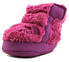 The North Face Nse Infant Fleece Bootie Infant Round Toe Canvas Purple Snow Boot.
