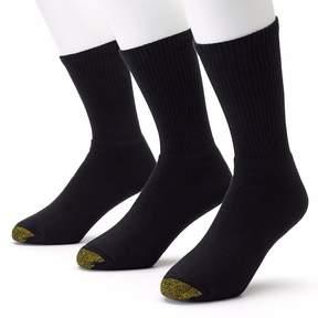 Gold Toe GOLDTOE Men's GOLDTOE 3-pk. Black Uptown Crew Socks