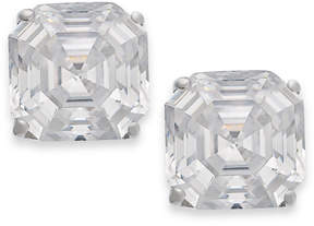 Arabella 14k Gold Earrings, Swarovski Zirconia Stud Earrings (6mm)