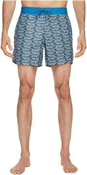 Mr.Swim Mr. Swim Fish Swirls Chuck Swim Trunks Men's Swimwear