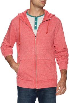 Alternative Apparel Men's Burn Out Mock Rocky Hoodie