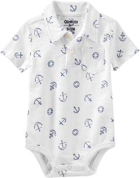 Osh Kosh Oshkosh Bgosh Baby Boy Nautical Polo Bodysuit