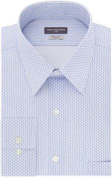 Van Heusen Wrinkle-Free Flex Collar Long Sleeve Twill Pattern Dress Shirt