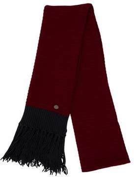 Chanel Fringe-Trimmed Rib Knit Stole