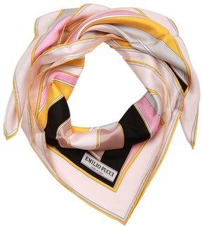 Emilio Pucci Printed Silk Twill Scarf