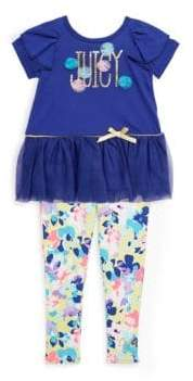 Juicy Couture Little Girl's Two-Piece Floral Top and Leggings Set