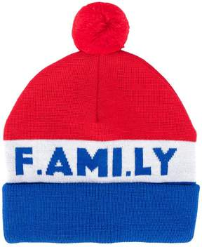 Ami Alexandre Mattiussi 'F.AMI.LY' knitted beanie