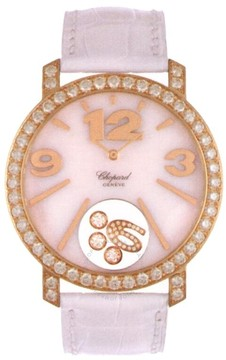 Chopard Happy Diamonds Mother of Pearl Leather Ladies Watch