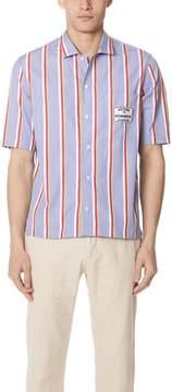 MAISON KITSUNÉ Stripes Short Sleeve Shirt