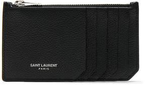 Saint Laurent Zipped Fragments Credit Card Case