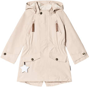 Mini A Ture Pale Pink Waterproof Longline Parker Jacket